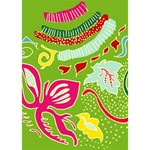 Green Organic Abstract Miss You 3D Greeting Card (7x5) Inside