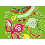 Green Organic Abstract Get Well 3D Greeting Card (7x5) Back