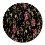 Floral Pattern Background Round Mousepads Front