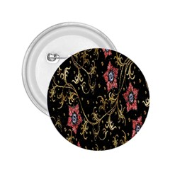 Floral Pattern Background 2.25  Buttons