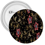 Floral Pattern Background 3  Buttons Front
