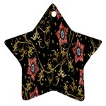 Floral Pattern Background Ornament (Star)  Front