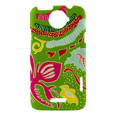 Green Organic Abstract HTC One X Hardshell Case