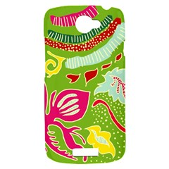 Green Organic Abstract HTC One S Hardshell Case