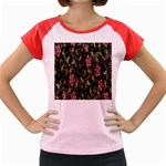 Floral Pattern Background Women s Cap Sleeve T-Shirt Front