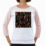 Floral Pattern Background Girly Raglans Front