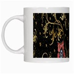 Floral Pattern Background White Mugs Left