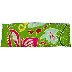Green Organic Abstract Body Pillow Case (Dakimakura)