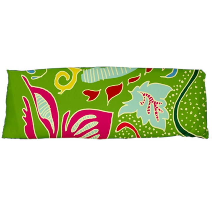 Green Organic Abstract Body Pillow Case Dakimakura (Two Sides)