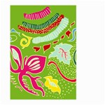 Green Organic Abstract Large Garden Flag (Two Sides) Front