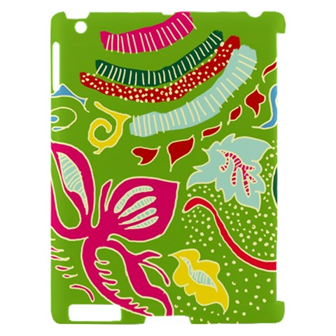 Green Organic Abstract Apple iPad 2 Hardshell Case (Compatible with Smart Cover)