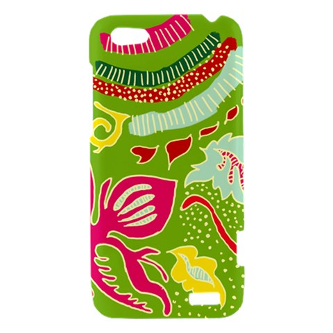 Green Organic Abstract HTC One V Hardshell Case
