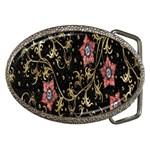 Floral Pattern Background Belt Buckles Front