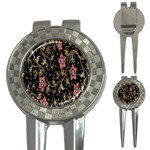 Floral Pattern Background 3-in-1 Golf Divots Front