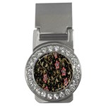 Floral Pattern Background Money Clips (CZ)  Front