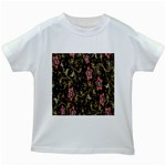 Floral Pattern Background Kids White T-Shirts Front