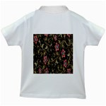 Floral Pattern Background Kids White T-Shirts Back