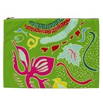 Green Organic Abstract Cosmetic Bag (XXL)  Front