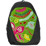 Green Organic Abstract Backpack Bag Front