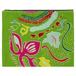 Green Organic Abstract Cosmetic Bag (XXXL)  Front