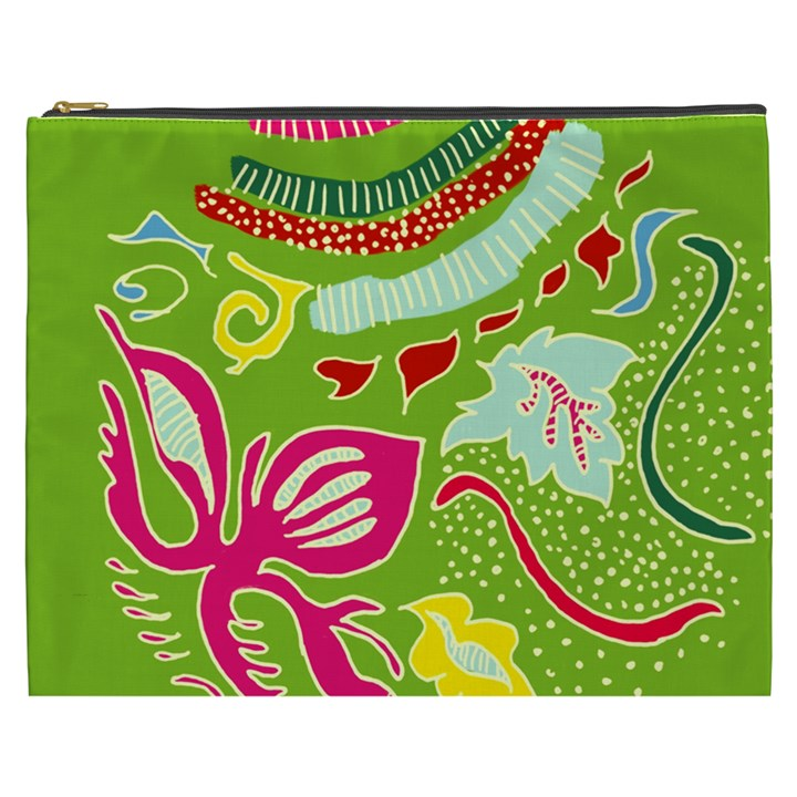 Green Organic Abstract Cosmetic Bag (XXXL)