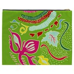 Green Organic Abstract Cosmetic Bag (XXXL)  Back