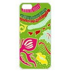 Green Organic Abstract Apple iPhone 5 Seamless Case (White) Front