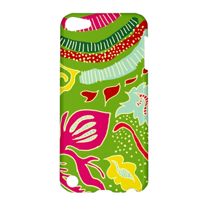 Green Organic Abstract Apple iPod Touch 5 Hardshell Case
