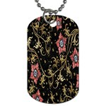 Floral Pattern Background Dog Tag (Two Sides) Front