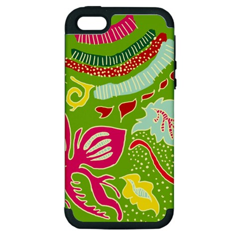 Green Organic Abstract Apple iPhone 5 Hardshell Case (PC+Silicone)
