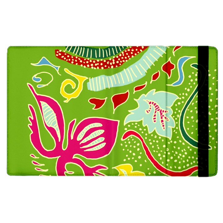 Green Organic Abstract Apple iPad 2 Flip Case