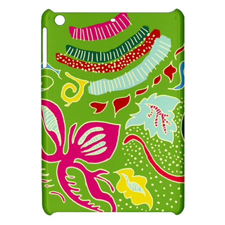 Green Organic Abstract Apple iPad Mini Hardshell Case