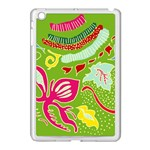 Green Organic Abstract Apple iPad Mini Case (White) Front
