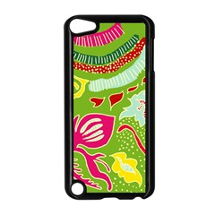 Green Organic Abstract Apple iPod Touch 5 Case (Black)