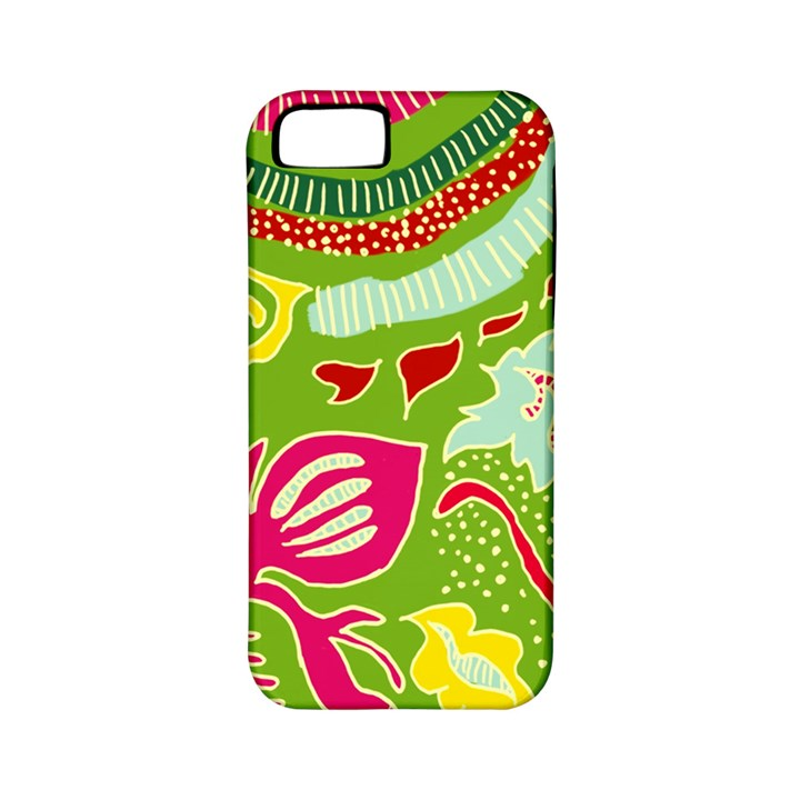 Green Organic Abstract Apple iPhone 5 Classic Hardshell Case (PC+Silicone)