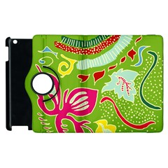 Green Organic Abstract Apple iPad 2 Flip 360 Case