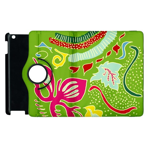 Green Organic Abstract Apple iPad 3/4 Flip 360 Case