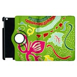 Green Organic Abstract Apple iPad 3/4 Flip 360 Case Front