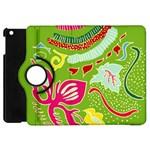 Green Organic Abstract Apple iPad Mini Flip 360 Case Front