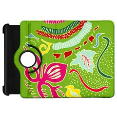 Green Organic Abstract Kindle Fire HD Flip 360 Case