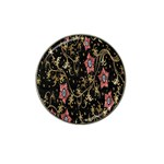 Floral Pattern Background Hat Clip Ball Marker (4 pack) Front