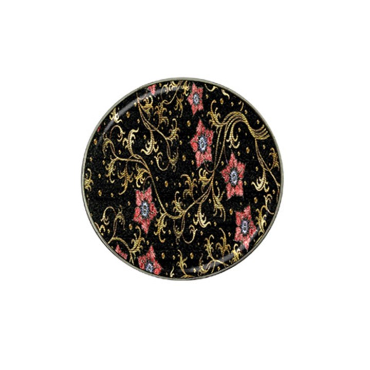 Floral Pattern Background Hat Clip Ball Marker (4 pack)