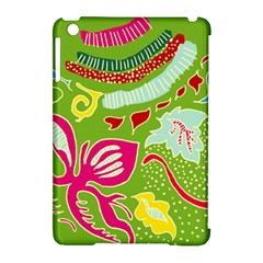 Green Organic Abstract Apple Ipad Mini Hardshell Case (compatible With Smart Cover)