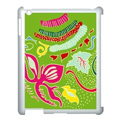 Green Organic Abstract Apple Ipad 3/4 Case (white)