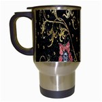 Floral Pattern Background Travel Mugs (White) Left