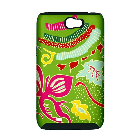 Green Organic Abstract Samsung Galaxy Note 2 Hardshell Case (PC+Silicone)