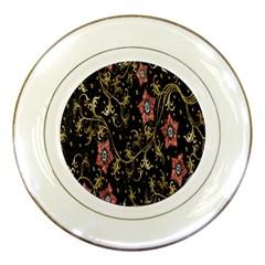 Floral Pattern Background Porcelain Plates
