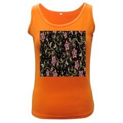 Floral Pattern Background Women s Dark Tank Top
