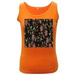 Floral Pattern Background Women s Dark Tank Top Front