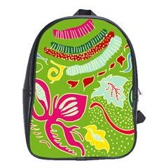 Green Organic Abstract School Bags (xl)